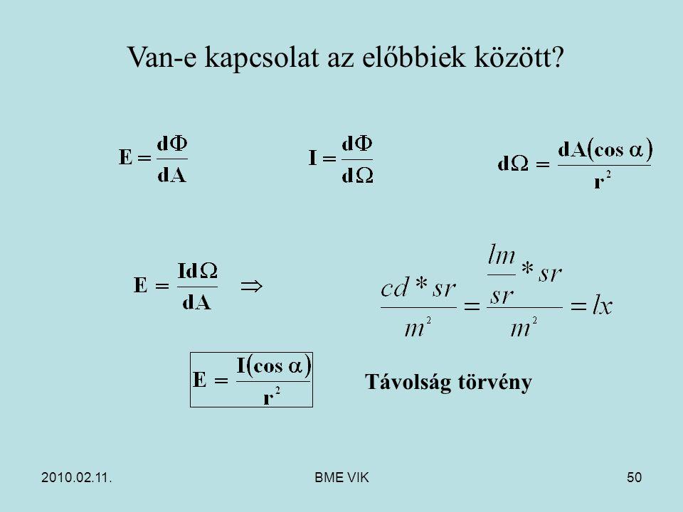 2010.02.11.BME VIK50 Van-e kapcsolat az előbbiek között? Távolság törvény