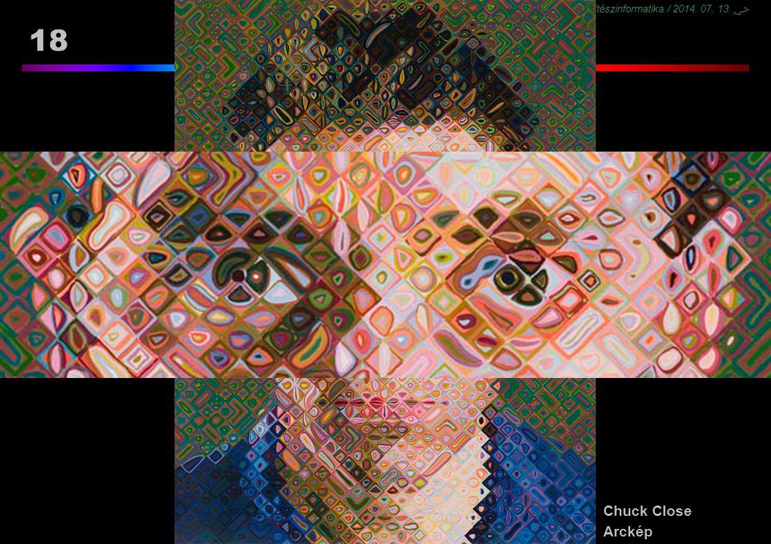 BMEEPAG0202 CAD és építészinformatika / 2014. 07. 13. ﴀ 18 Többcsatornás reprezentáció Chuck Close Arckép