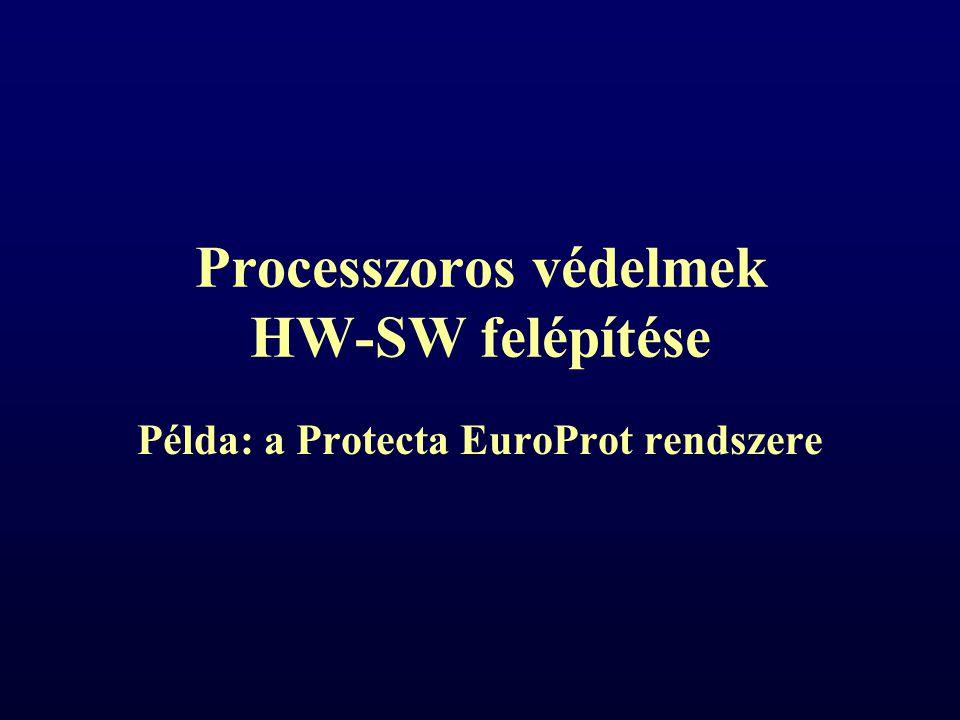 Processzoros védelmek HW-SW felépítése Példa: a Protecta EuroProt rendszere