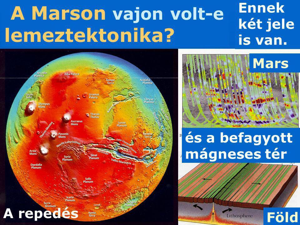 A Marson vajon volt-e lemeztektonika? Ennek két jele is van. A repedés és a befagyott mágneses tér Föld Mars