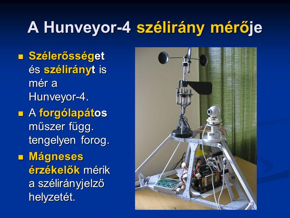 A Hunveyor-4 szélirány mérője Szélerősséget és szélirányt is mér a Hunveyor-4.