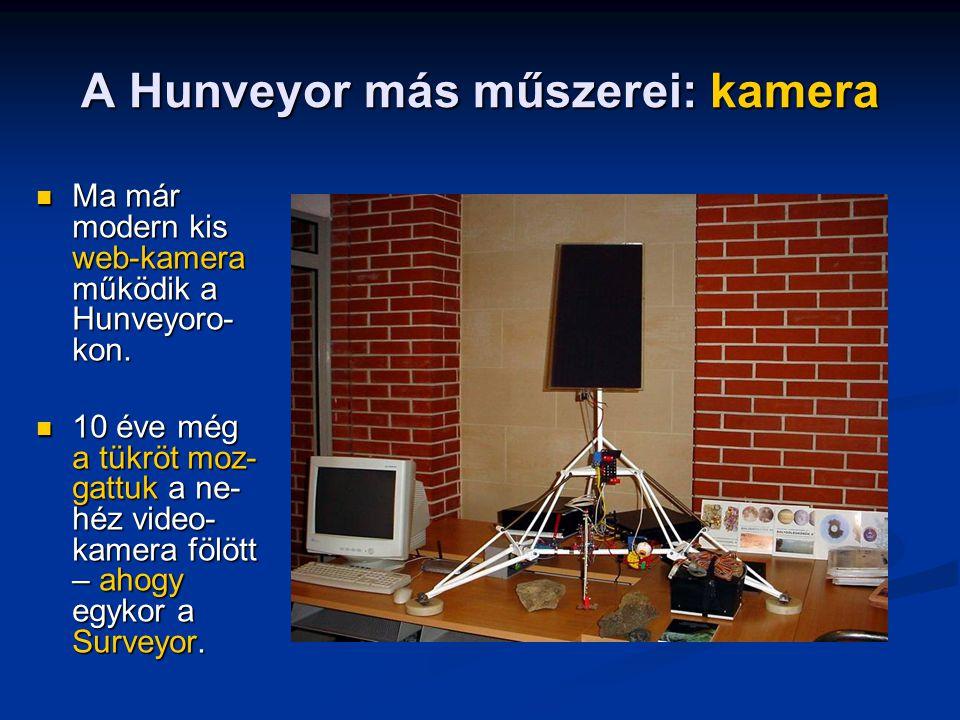 A Hunveyor más műszerei: kamera Ma már modern kis web-kamera működik a Hunveyoro- kon.