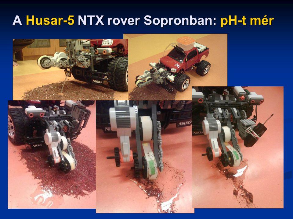 A Husar-5 NTX rover Sopronban: pH-t mér