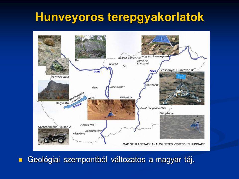 Hunveyoros terepgyakorlatok Geológiai szempontból változatos a magyar táj.