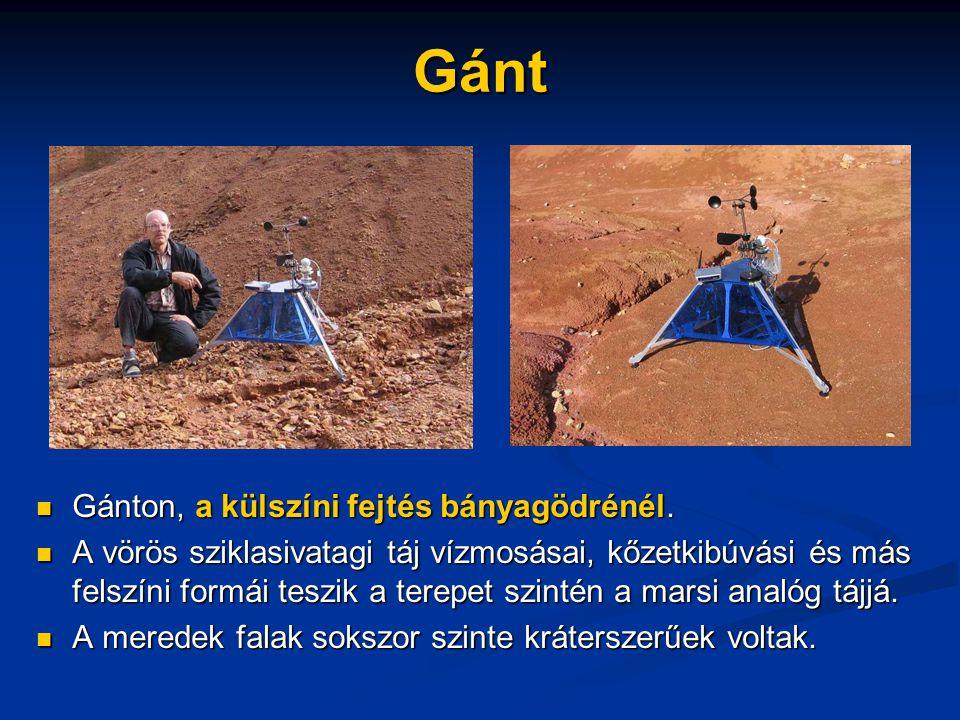 Gánt Gánton, a külszíni fejtés bányagödrénél.