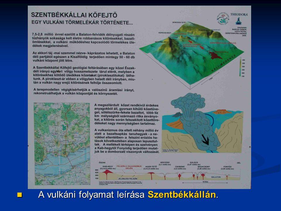A vulkáni folyamat leírása Szentbékkállán.