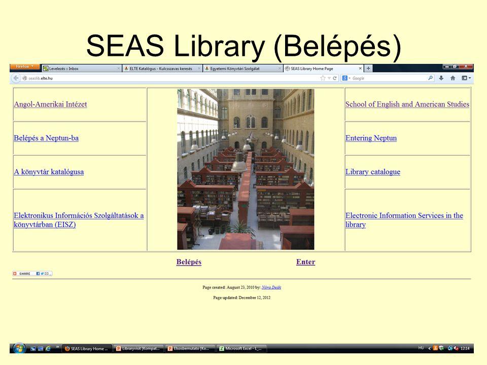 SEAS Library (Belépés)