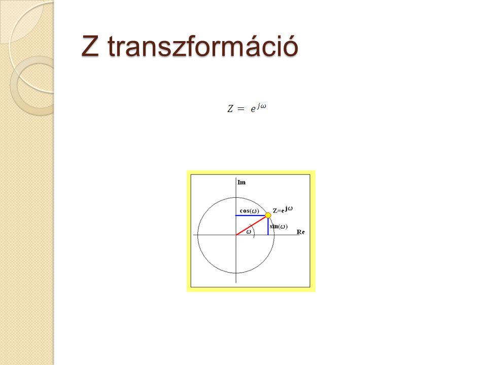 Z transzformáció