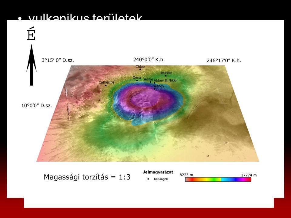 vulkanikus területek –Tharsis-hátság Arsia-hegy