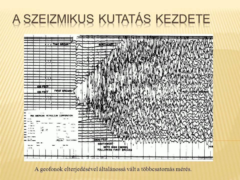 A geofonok elterjedésével általánossá vált a többcsatornás mérés.