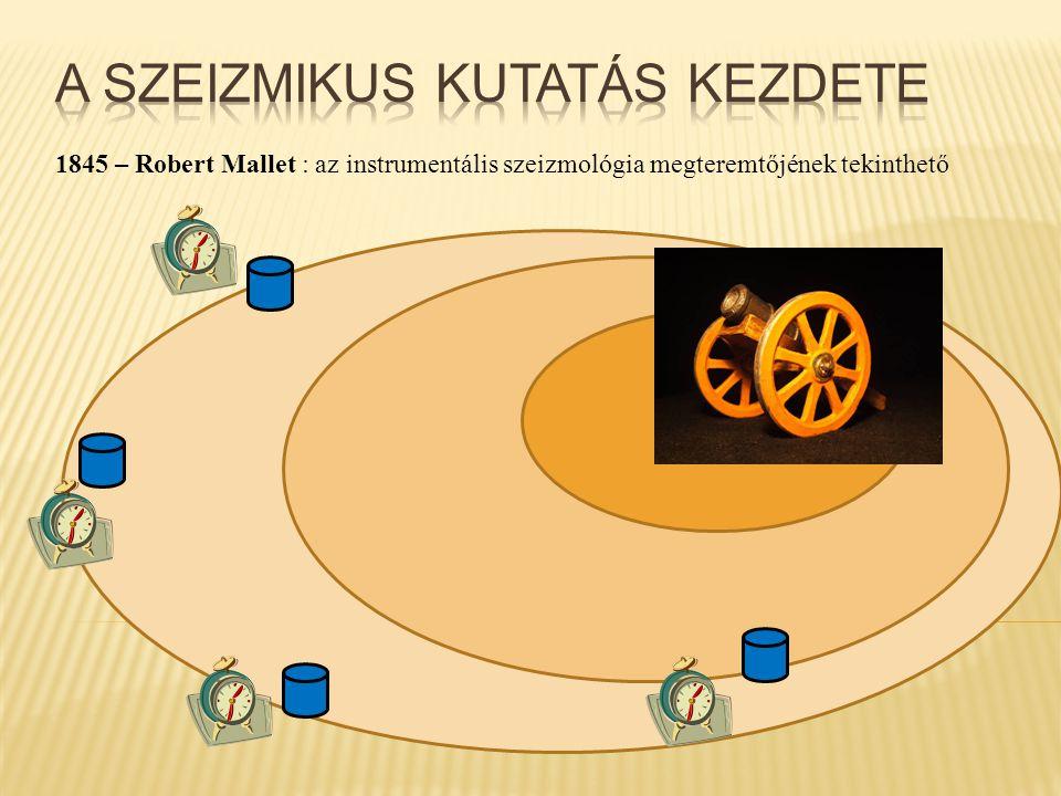 1845 – Robert Mallet : az instrumentális szeizmológia megteremtőjének tekinthető
