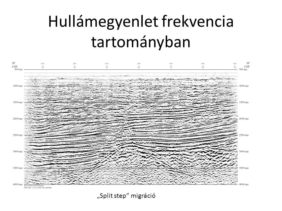 """Hullámegyenlet frekvencia tartományban """"Split step"""" migráció"""