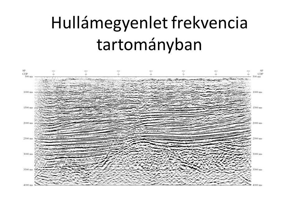 Hullámegyenlet frekvencia tartományban