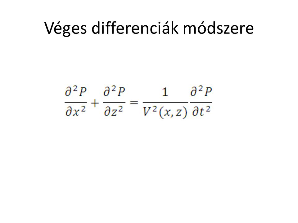 Véges differenciák módszere