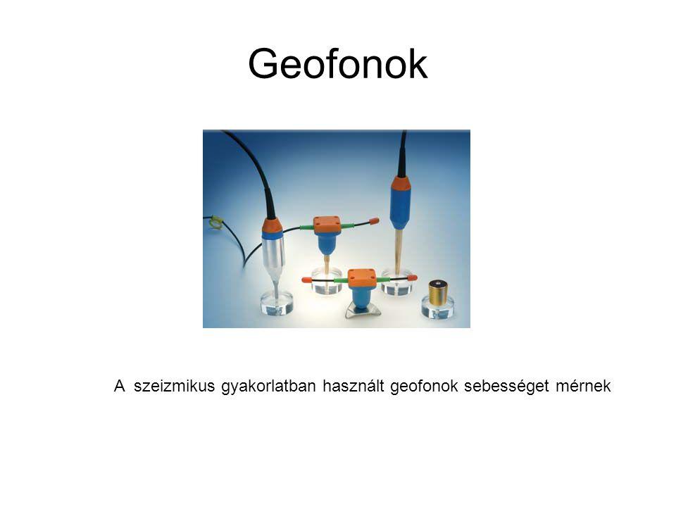 Geofonok A szeizmikus gyakorlatban használt geofonok sebességet mérnek