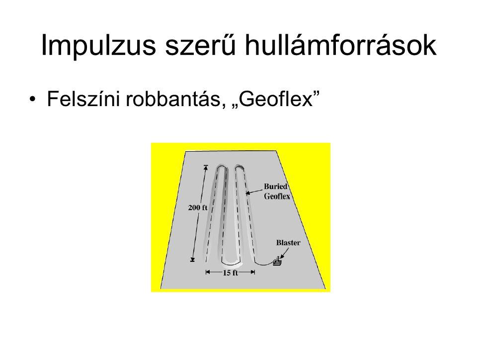 """Impulzus szerű hullámforrások Felszíni robbantás, """"Geoflex"""""""