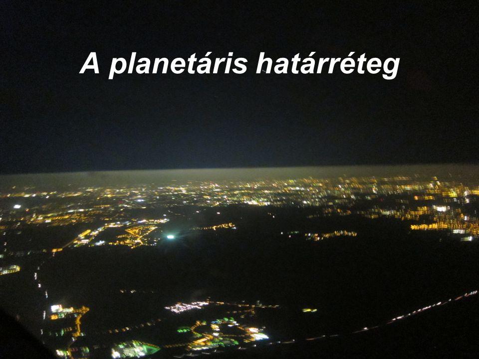 A planetáris határréteg