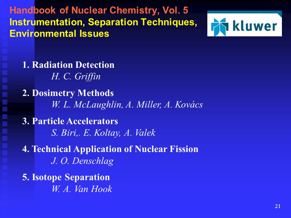 21 Handbook of Nuclear Chemistry, Vol.
