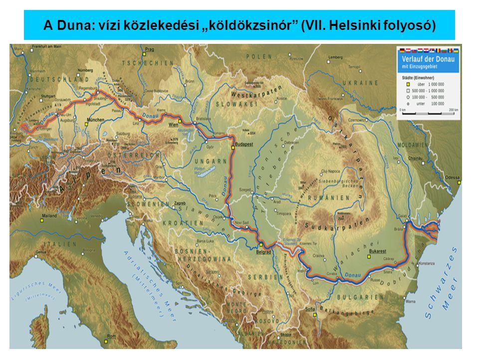"""A Duna: vízi közlekedési """"köldökzsinór"""" (VII. Helsinki folyosó)"""