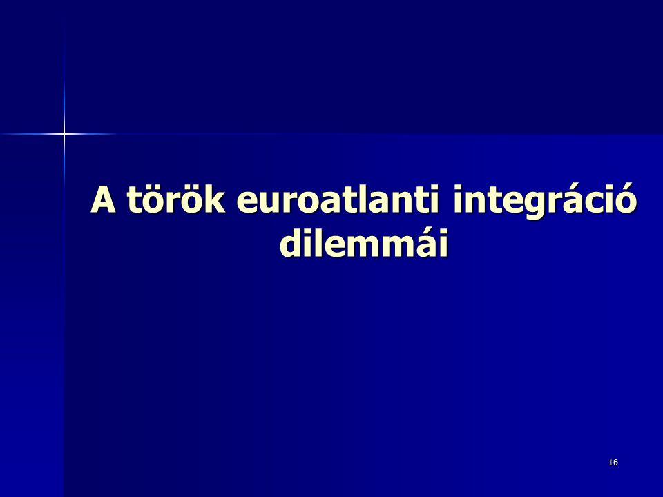 16 A török euroatlanti integráció dilemmái