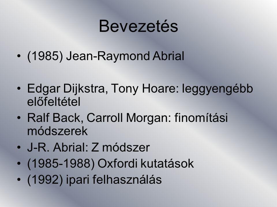 Bevezetés (1994) B-t támogató programcsomag (B- Core: B-Toolkit, ClearSky: Atelier B) (1998 október) párizsi metró B konferenciák