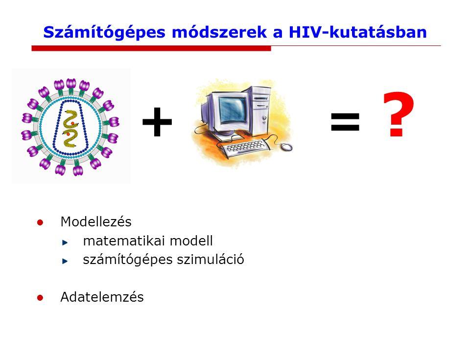 Számítógépes módszerek a HIV-kutatásban + = .