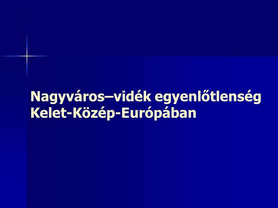 Nagyváros–vidék egyenlőtlenség Kelet-Közép-Európában