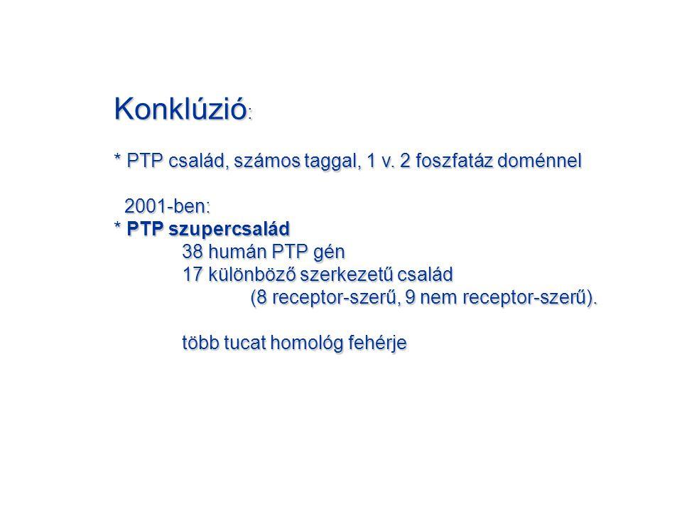 Konklúzió : * PTP család, számos taggal, 1 v.