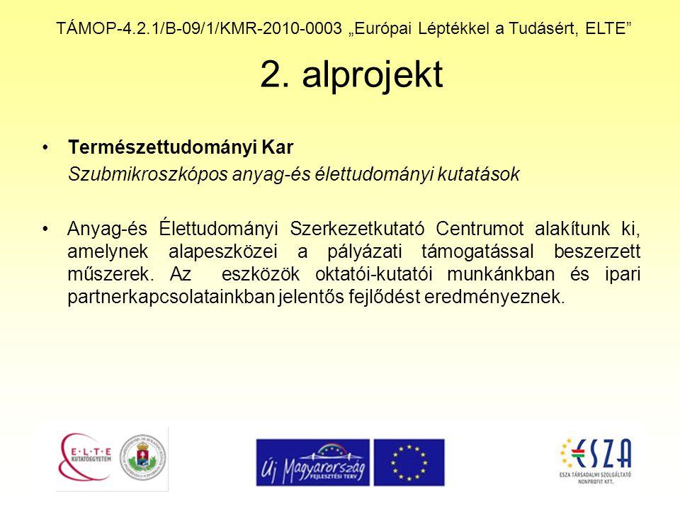 """TÁMOP-4.2.1/B-09/1/KMR-2010-0003 """"Európai Léptékkel a Tudásért, ELTE 3."""