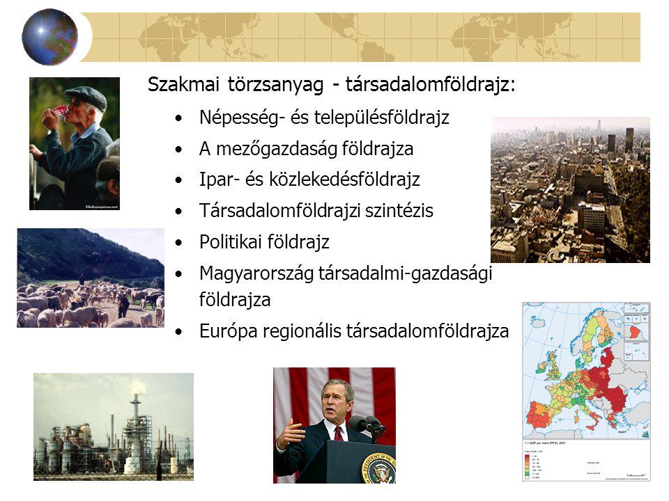 Népesség- és településföldrajz A mezőgazdaság földrajza Ipar- és közlekedésföldrajz Társadalomföldrajzi szintézis Politikai földrajz Magyarország társ