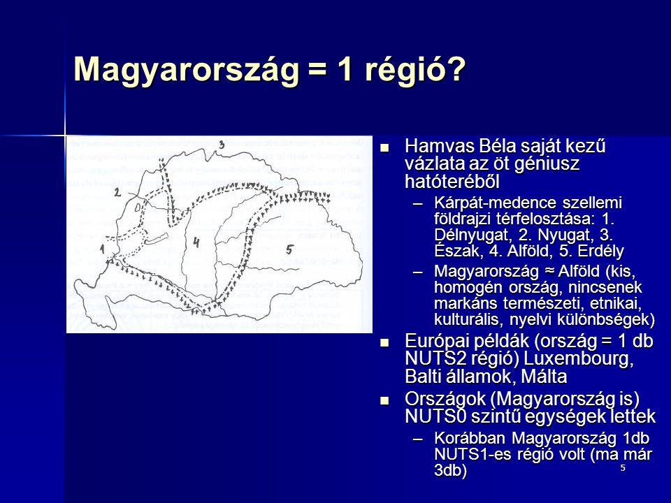 5 Magyarország = 1 régió? Hamvas Béla saját kezű vázlata az öt géniusz hatóteréből Hamvas Béla saját kezű vázlata az öt géniusz hatóteréből –Kárpát-me