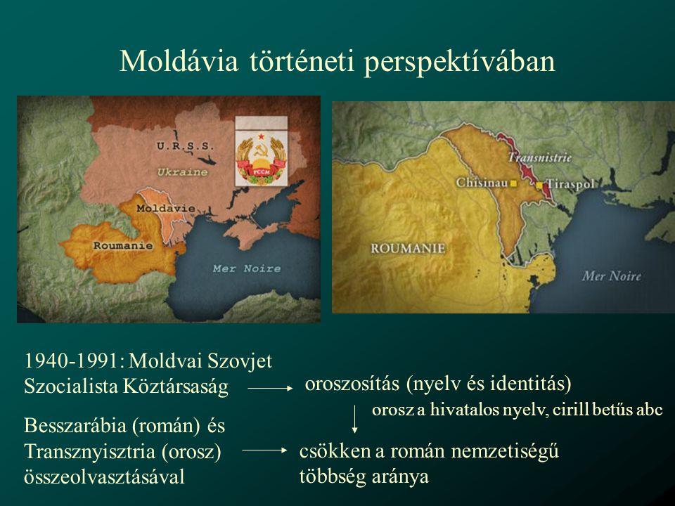 Többnyelvű helyrajzi feliratok a helységnevek, utcanevek, terek és kerületek nevei, az intézménynevek: román és/vagy orosz nyelven az autonóm területeken az adott autonóm terület hivatalos nyelvein bármilyen kisebbség által többségben lakott területeken az adott kisebbség/ek anyanyelvein (ukrán, orosz, bolgár stb.)