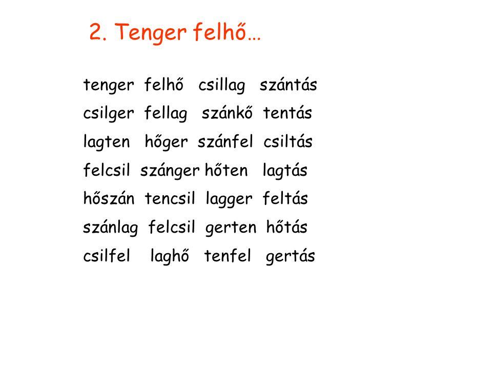 A szavak Téma és variációk 2.