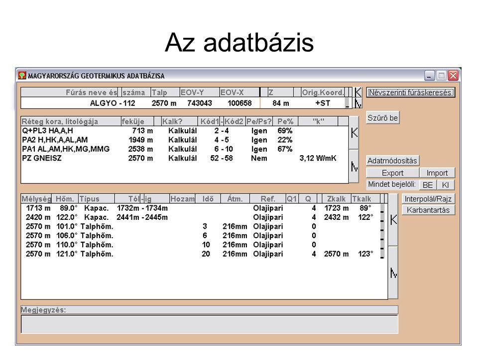 Az adatbázis