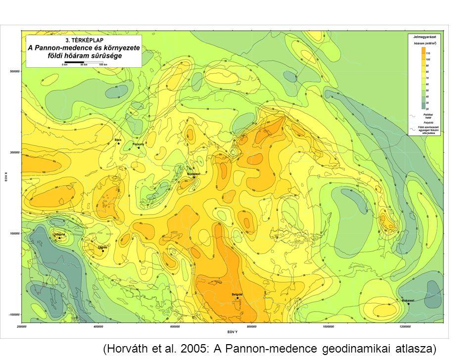 (Horváth et al. 2005: A Pannon-medence geodinamikai atlasza)