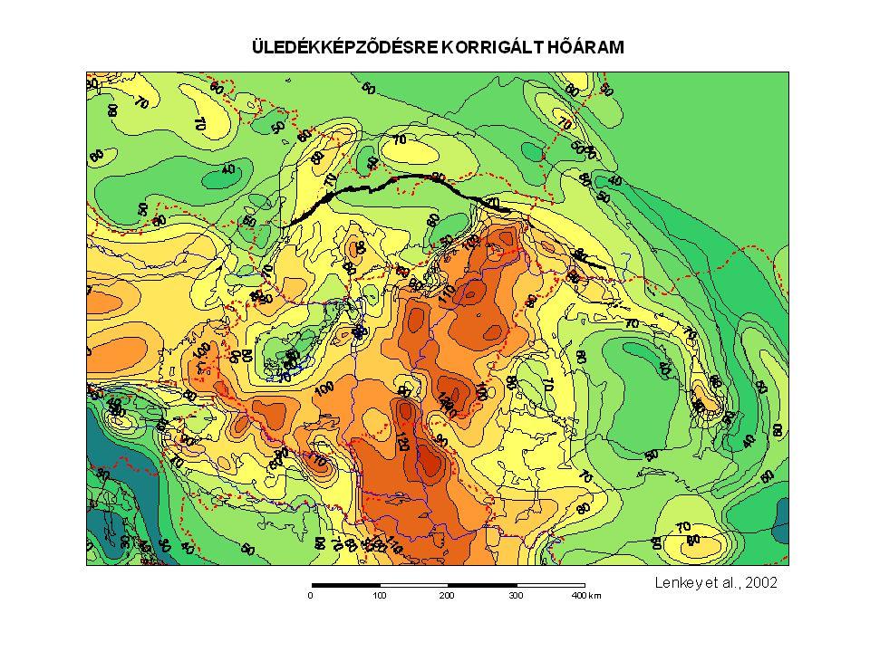 Üledékes árok geotermikus modellje Erdős, 2008