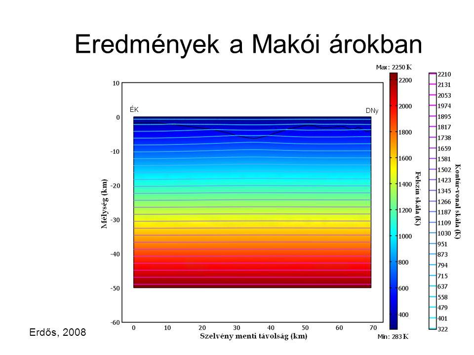 Eredmények a Makói árokban ÉK DNy Erdős, 2008