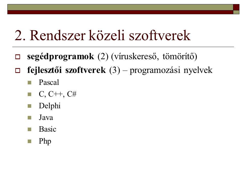3.Felhasználói szoftverek I.
