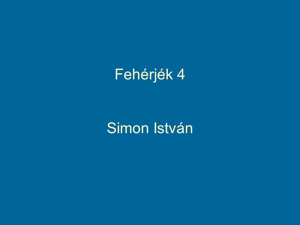Fehérjék 4 Simon István