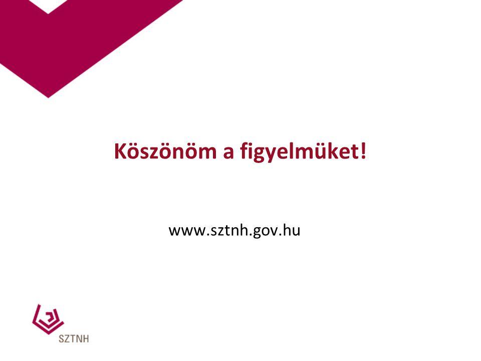 Köszönöm a figyelmüket! www.sztnh.gov.hu