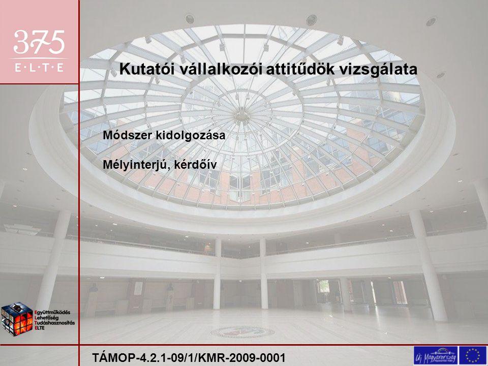 Projektek bemutatása szakértők előtt: 2010.11. 22.