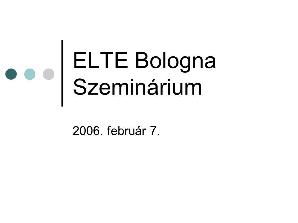 ELTE Bologna Szeminárium 2006. február 7.