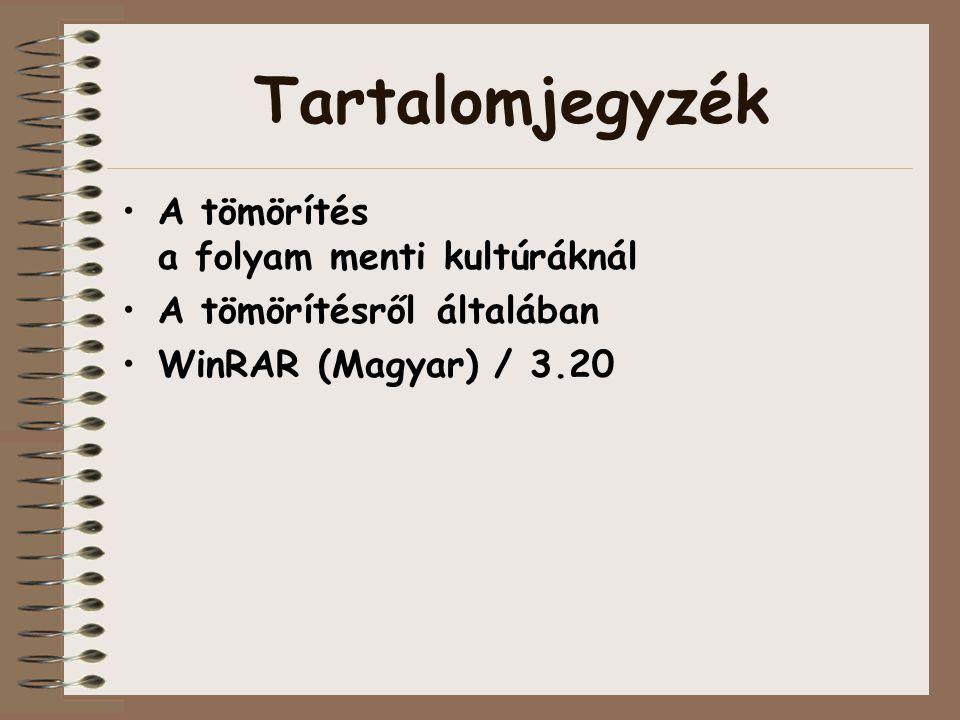 WinRAR (Magyar) / 3.20 avagy a tömörítésről általában…