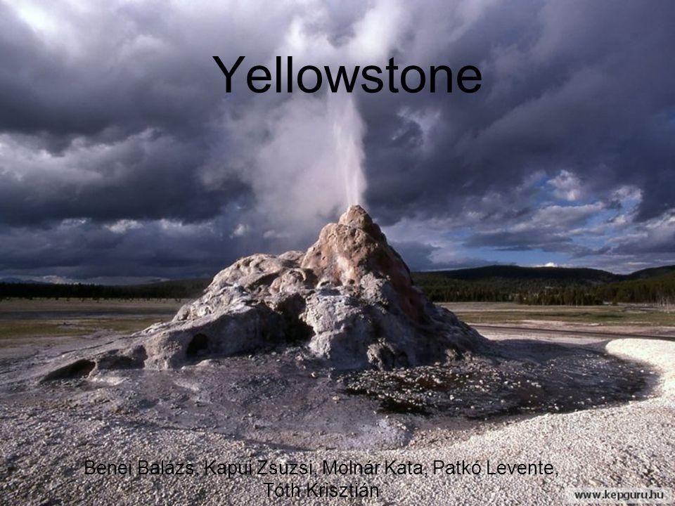 Szupervulkáni kitörések a Yellowstone területén Lava Creek tufa 0.6 Ma 1000km 3 Mesa Falls tufa 1.3 Ma 280km 3 Hucleberry Ridge tufa 2.1 Ma 2450km 3