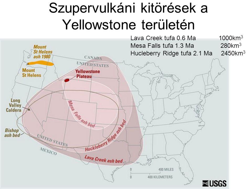 Utóbbi 2,5 millió év kitörései Forrás: USGS