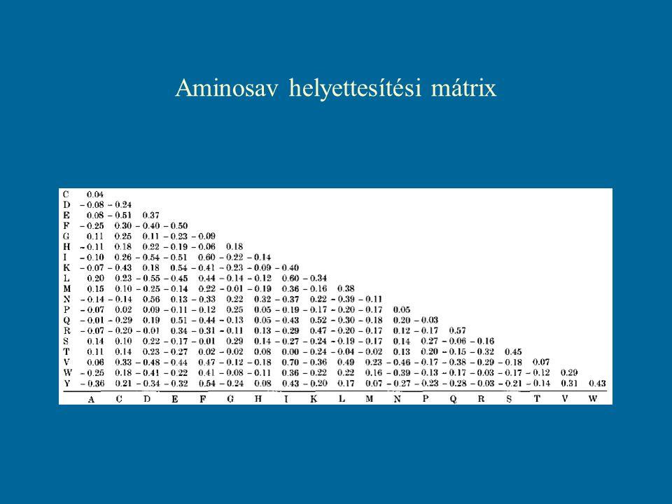 Aminosav helyettesítési mátrix