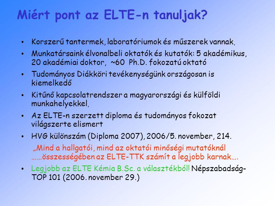 Miért pont az ELTE-n tanuljak.