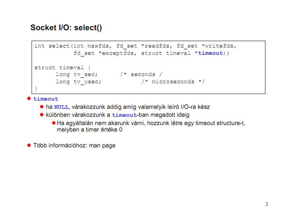 Extra feladat többlet pontok szerzéséhez: – Több felhasználós számológép megvalósítása (ld.