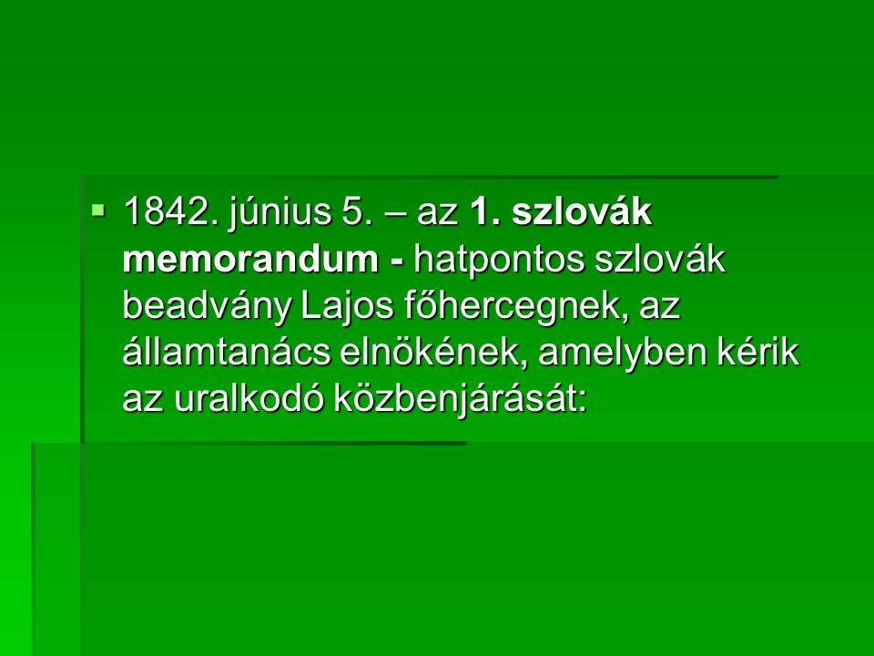  1842.június 5. – az 1.