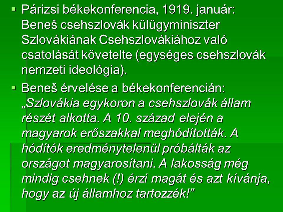 Párizsi békekonferencia, 1919.